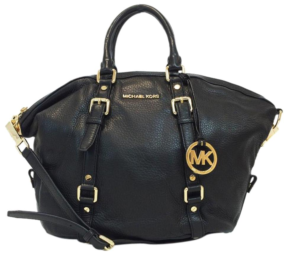 Michael Kors Bedford Bowling Black Leather Satchel 37 Off Retail
