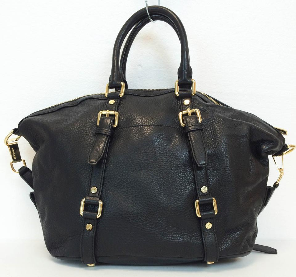c728a4191b87 Michael Kors Bedford Bowling Leather Satchel in Black Image 11.  123456789101112