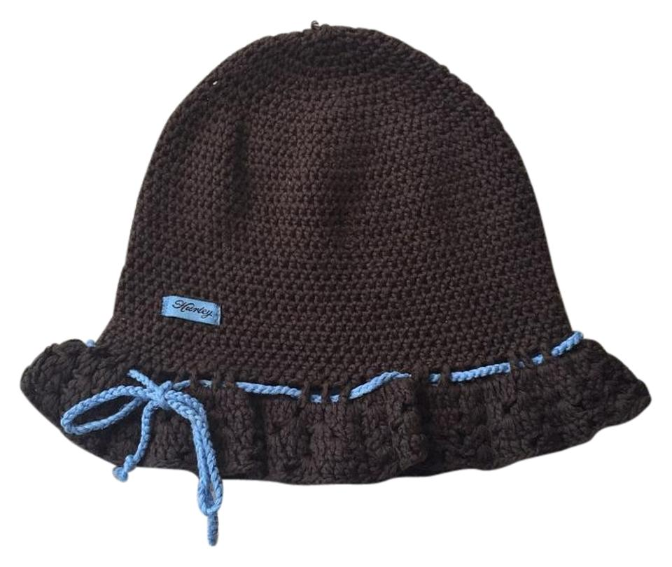 Hurley Brown and Blue Floppy Beanie Hat - Tradesy a834661ca7b