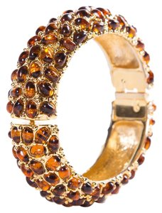 Kenneth Jay Lane Kenneth Jay Lane Gold & Resin Bangle Bracelet