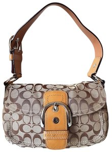 Coach Flap Signature Shoulder Bag