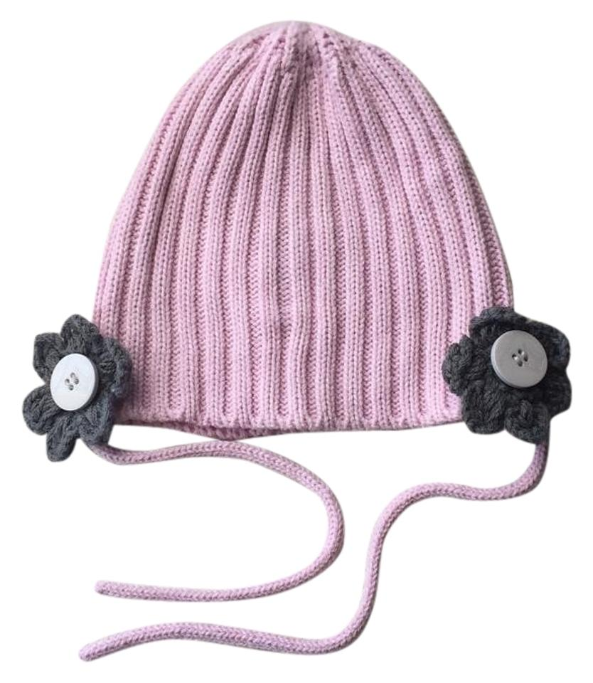 Volcom Pink and Grey Flower Beanie Hat - Tradesy ce8812ced74
