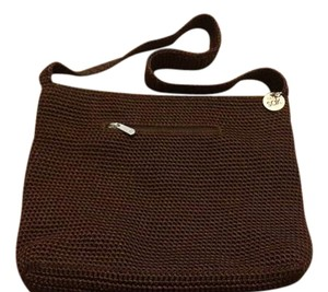 The Sak Brown Knit Shoulder Bag
