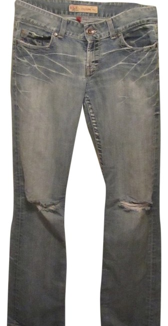 Preload https://item5.tradesy.com/images/bke-blue-denim-distressed-culture-boot-cut-jeans-size-30-6-m-1736784-0-0.jpg?width=400&height=650