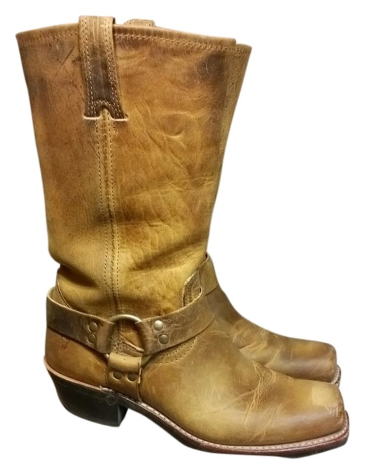 Frye Camel Vintage Leather Leather Vintage Worn Boots/Booties 192f56