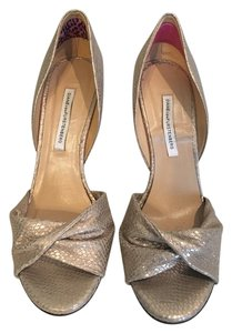 Diane von Furstenberg Dvf Vintage Stiletto Metallic Formal Rose Gold/Metallic Pumps
