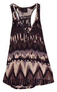 Ella Moss Top Black/brown/white Icat print