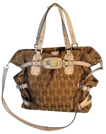 Preload https://item4.tradesy.com/images/michael-kors-browncream-leather-satchel-17368-0-0.jpg?width=440&height=440