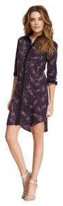 Three Dots short dress Dark Paisley on Tradesy