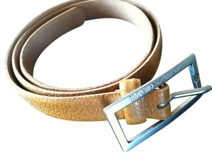 Emporio Armani Emporio ARMANI Designer Camel Leather Belt Made in Italy Authentic Vintage Accessory Style 361017
