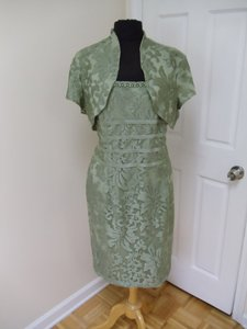 KM Collections Sage Green 51312 Bridesmaid/Mob Dress Size 16 (XL, Plus 0x)