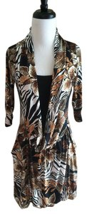 Marc Jacobs short dress Multicolor Floral Linen Print Cowl on Tradesy