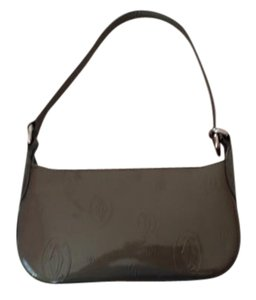 Cartier Double C Patent Leather Embossed Monogram Shoulder Bag