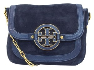 Tory Burch Amanda Suede Leather Flap Cross Body Bag