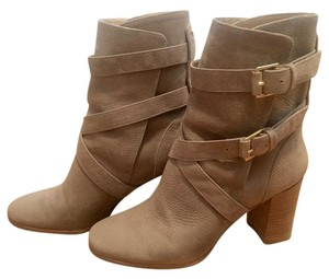 Kate Spade Gold Hardware Suede Light taupe Boots