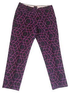 J.Crew Capri/Cropped Pants Navy & Purple