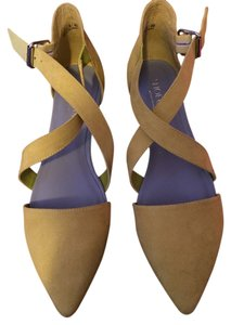 Nasty Gal Cult Suede Sandals Summer Casual Yellow Flats