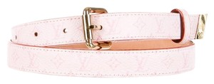 Louis Vuitton Light pink pink Louis Vuitton mini LV monogram leather belt