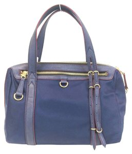 MZ Wallace Bedford Nylon Saffiano Tote in Navy Blue