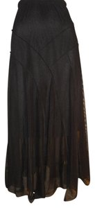 Kokomo Sheer Mesh Maxi Skirt black