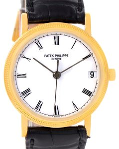 Patek Philippe Patek Philippe Calatrava 18k Yellow Gold Hobnail Bezel Date Watch 3802
