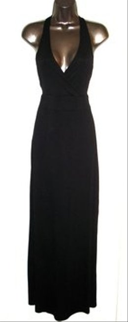 Black Maxi Dress by Zenana Outfitter New Low Cut Halter Long Full Length