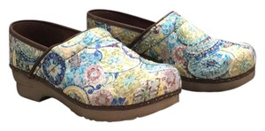 Sanita Multi colored flower pattern Mules
