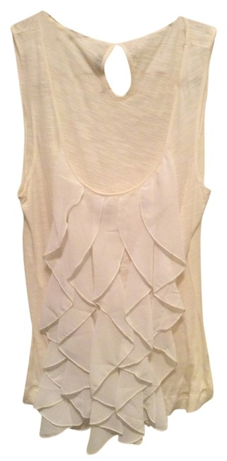 Anthropologie Party Sexy Flattering Top white ruffle