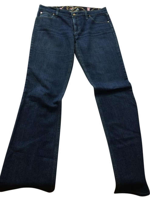 Item - Blue Light Wash Made In Italy Boot Cut Jeans Size 32 (8, M)