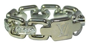 Louis Vuitton 18k White Gold Chain Reaction Ring