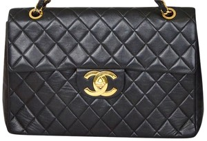 Chanel jumbo maxi shoulder bag Quilted Lambskin Matelasse Shoulder Bag