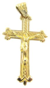 18kt Solid Yellow Gold Crucifix Cross Jesus 2.3 grams faith jewelry fine jewel