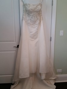 Embroidered And Gem Organza Off White Strapless Wedding Dress Wedding Dress