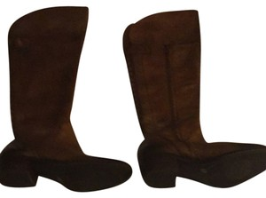 Vince Camuto Tan With Darker Brown Almost Black At Toe And Heel Boots