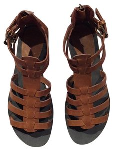 Tesori Gladiator Exile Pet And Smoke Free Zip Up Heel brown Sandals