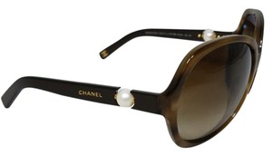 Chanel Rare Chanel Brown Pearl Collection Round Sunglasses 5141-H C.1101/3B