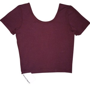 American apparel Crop Crop Truffle Cute T Shirt Burgundy