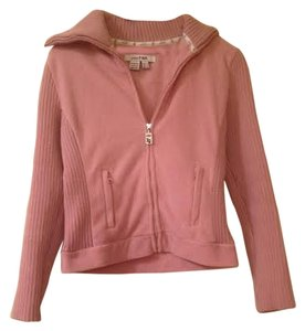 Zara Pink Elbow Patch Rose Pink Jacket