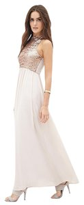 Forever 21 Sequin Maxi Rose Gold Dress