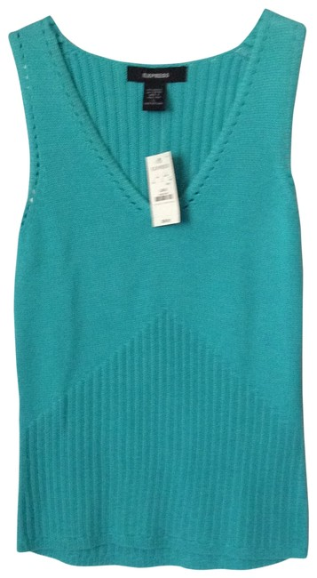 Preload https://img-static.tradesy.com/item/173725/express-turquoise-tank-topcami-size-12-l-0-0-650-650.jpg