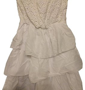 Almost Famous Clothing short dress White Ruffle Lace Summer on Tradesy