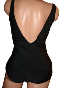 Gottex Gottex black swimsuit bikini low back v neck
