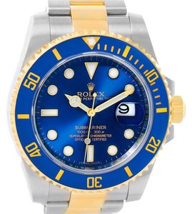 Rolex Rolex Submariner Steel 18K Yellow Gold Blue Dial Watch 116613
