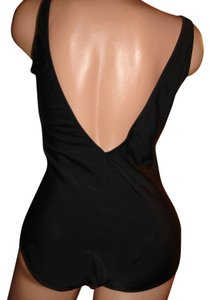 Gottex GOTTEX BLACK BIKINI SWIMSUIT ROCKABILLY PINUP 10 LOW V BACK