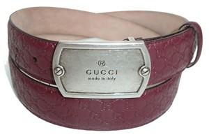 Gucci New Authentic GUCCI Mens Microguccisima leather with dog tag buckle and Gucci trademark engraving size 105/42