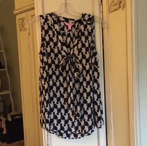 Lilly Pulitzer Top Black and white