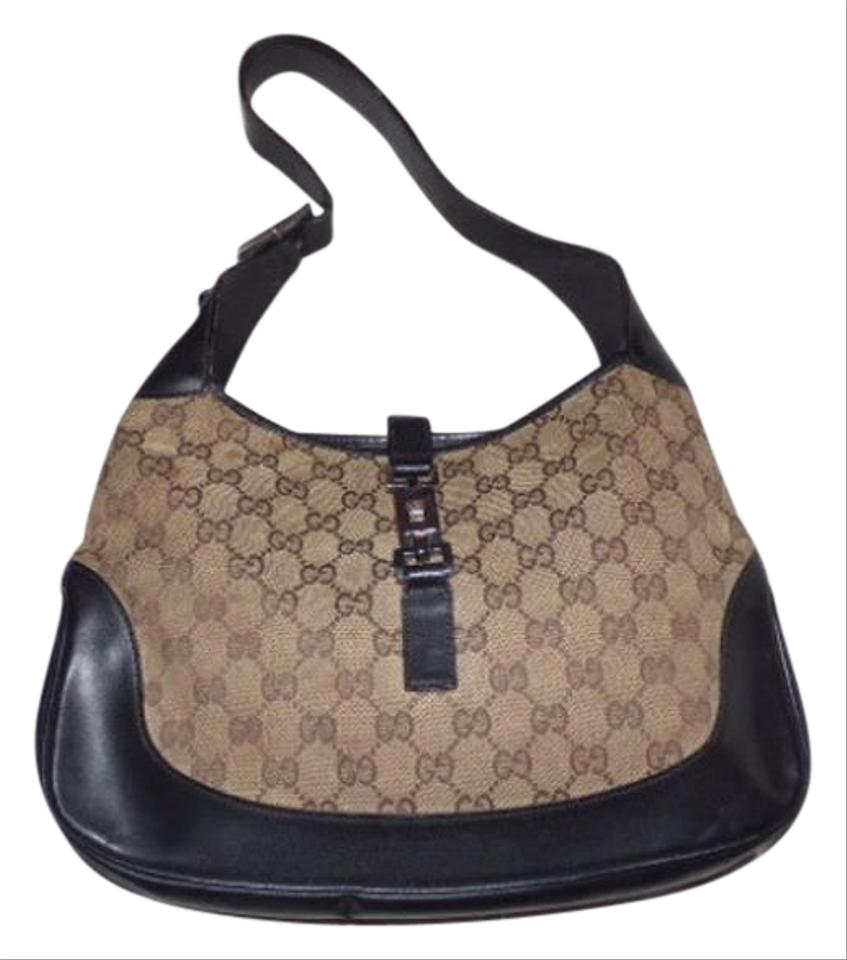 dc780f331050 Well known Gucci Jackie Vintage O Logo/Designer Purses Browns Leather/Canvas  EW72
