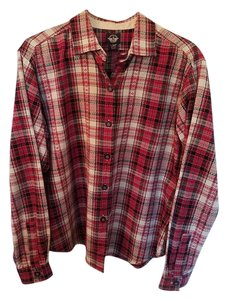 Dockers Button Down Shirt Red