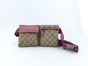 Gucci Beige and Pink Travel Bag