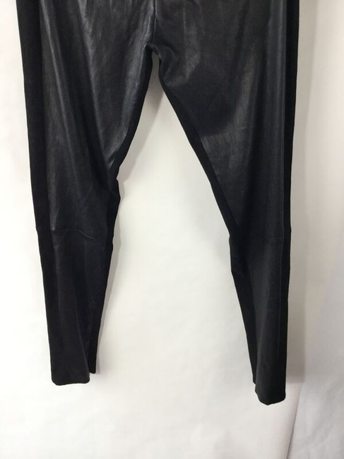 The Row Leather Suede Stretch Black Leggings